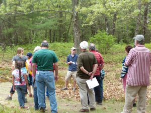 Andrew Sammarco, LCT Trustee, leading a guided walk at the 2015 Hidden Treasure event at Sarah Doublet