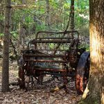 image of rusted farm implement