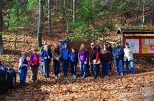 Hiking group from Oak Hill guided walk on 11/4/2017